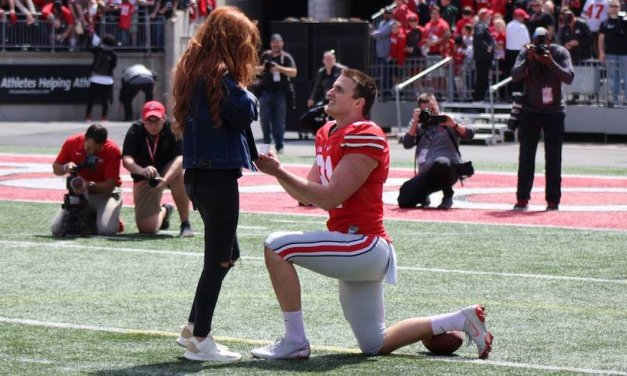 Watch Ohio State Punter's Marriage Proposal At Buckeyes Spring Game
