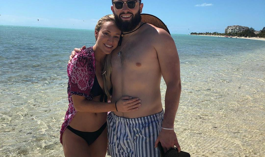 Baker Mayfield and Fiance Emily Wilkinson Enjoying a Bahamas Vacation