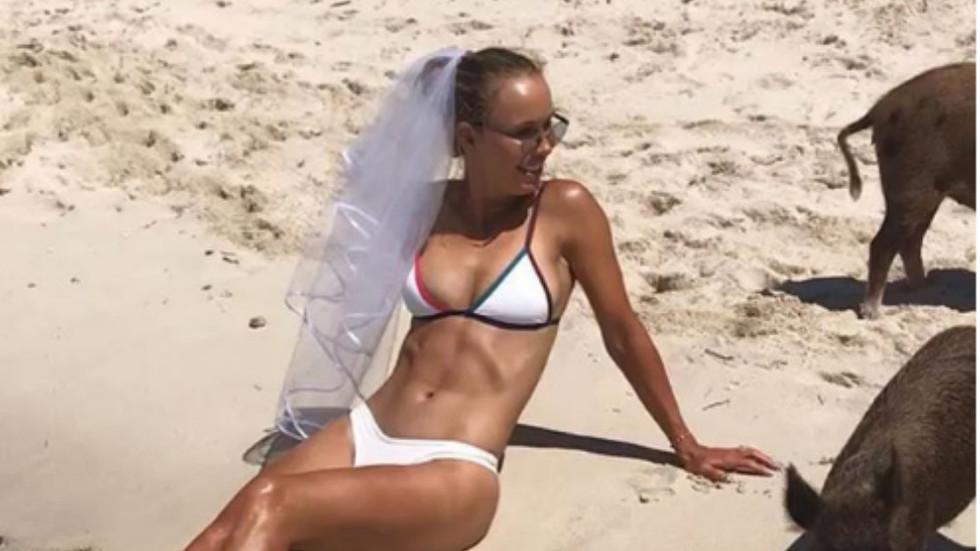 Caroline Wozniacki Looking Hot in Bahamas as She Celebrates Bachelorette Party