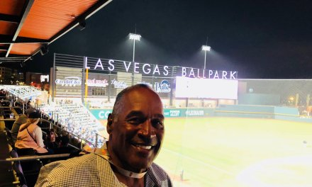 O.J. Simpson Spotted at the Las Vegas Aviators Home Opener