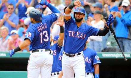 Rangers First Baseman Joey Gallo Celebrates a Home Run By Grabbing His Teammates Crotch