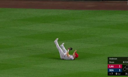 Mike Trout Flashed the Leather in Seattle