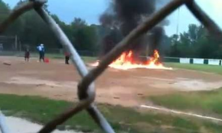 High School Baseball Coach Placed on Leave After Dousing Field in Gasoline and Lighting it on Fire