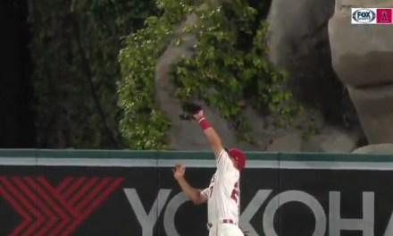 Mike Trout Did Mike Trout Things and Robbed Christian Yelich of a Home Run