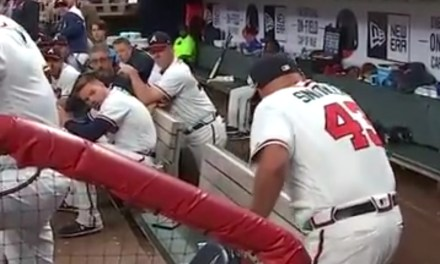 Braves Manager Brian Snitker Got Drilled in the Neck With a Foul Ball