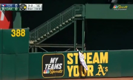 A's Outfielder Ramon Laureano Turned a Home Run into a Double Play