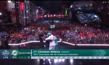 Christian Wilkins Almost Killed Roger Goodell With a Chest Bump After the Dolphins Drafted Him