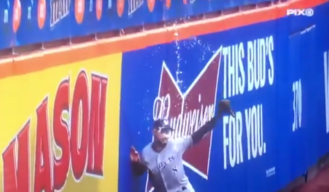 Mets Fan Poured a Beer on Ryan Braun Trying to Catch a Ball