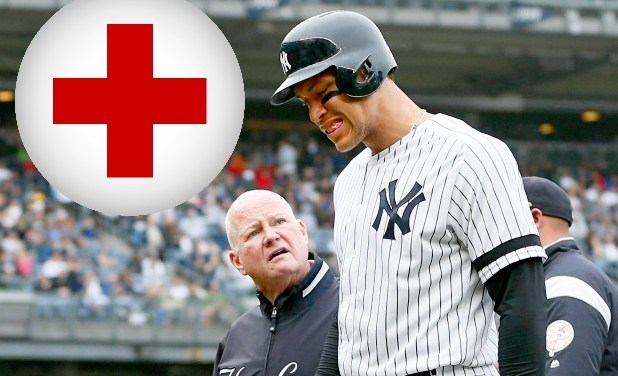 Aaron Judge Placed on Injured list With Oblique Strain