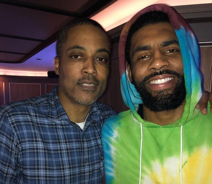 Kyrie Irving Celebrated his 27th Birthday with New York Legend Rod Strickland