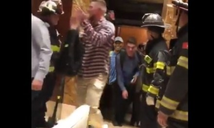 Watch Half the Braves Get Stuck in an Elevator and Get Rescued