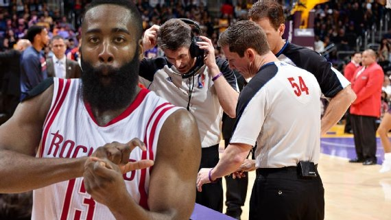 7e57d7d5c4f2 James Harden s Least Favorite Referee Scott Foster Working Game 2 ...