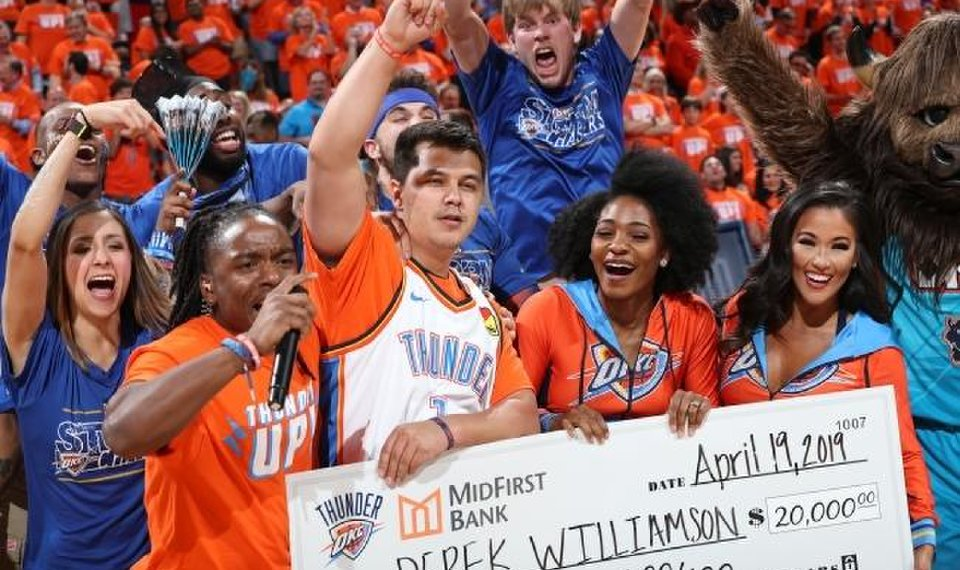 Not One But Two OKC Thunder Fans Nailed Halfcourt Shots For $20,000