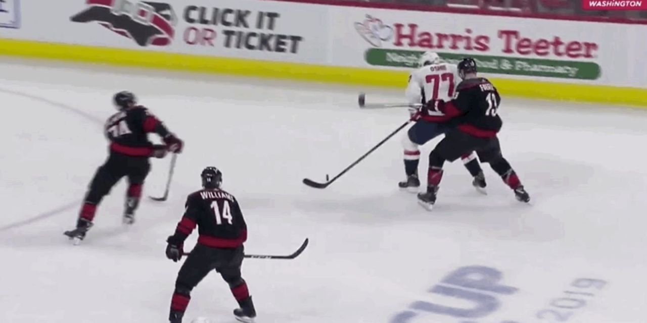 Caps T.J. Oshie Goes Down With an Injury After a Dirty Hit