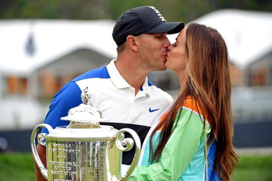 Watch Jena Sims Finally Get that Kiss She Wanted at the PGA Championship