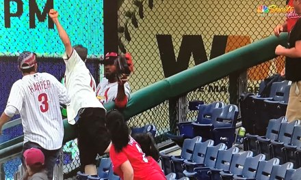 Dexter Fowler Made an Incredible Game Ending Catch Over the Wall in Foul Territory