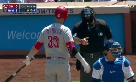 Reds Jesse Winker Gets Ejected Mid At-Bat after a Terrible Call