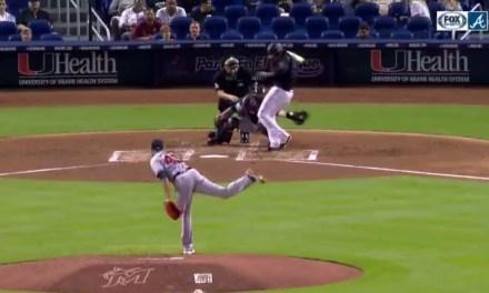 Braves Pitcher Kevin Gausman Tossed for Throwing at Marlins Pitcher Jose Urena