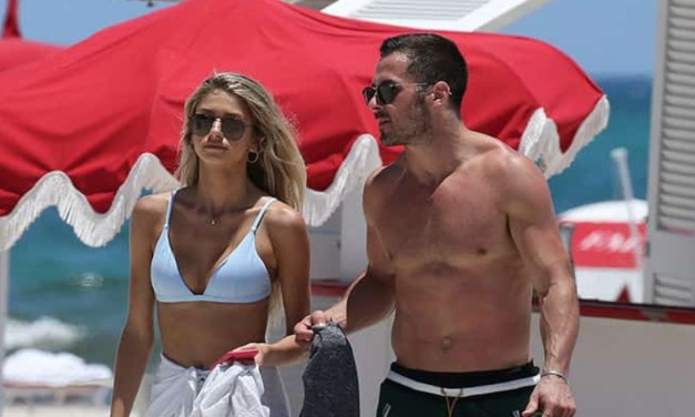 Danny Amendola Spotted at the Beach with a Blonde