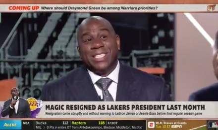 Magic Johnson Identifies Rob Pelinka as the Lakers Backstabber that Caused Him to Resign
