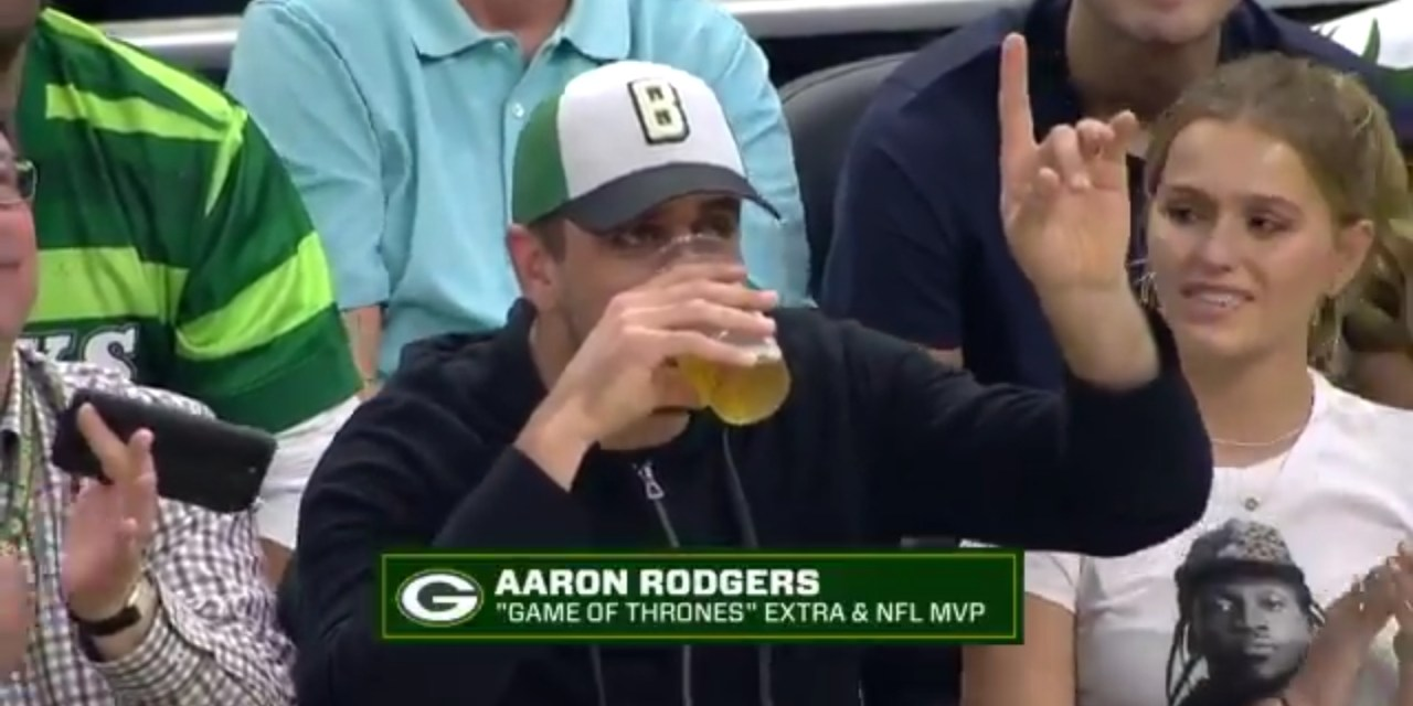 Aaron Rodgers is Bad at Chugging Beer
