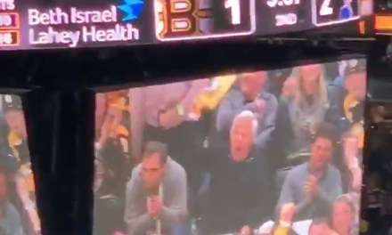 Robert Kraft Cheered by Bruins Fans as He was Shown on the Jumbotron During Game 1 of the Stanley Cup Final