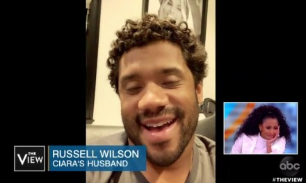 Ciara Breaks Down Into Tears As She Watches Surprise Message from Russell Wilson On The View