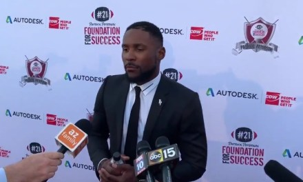 Patrick Peterson Makes Statement on PED Violation on Red Carpet at His Annual Fundraiser