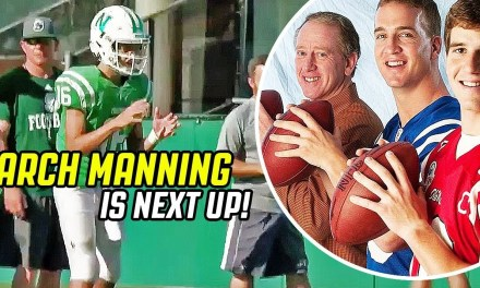 Peyton and Eli Manning's Nephew Already Dropping Dimes