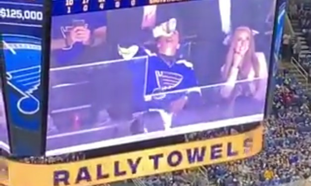 Patrick Mahomes Chugged a Beer During Game 3 of the Stanley Cup Final