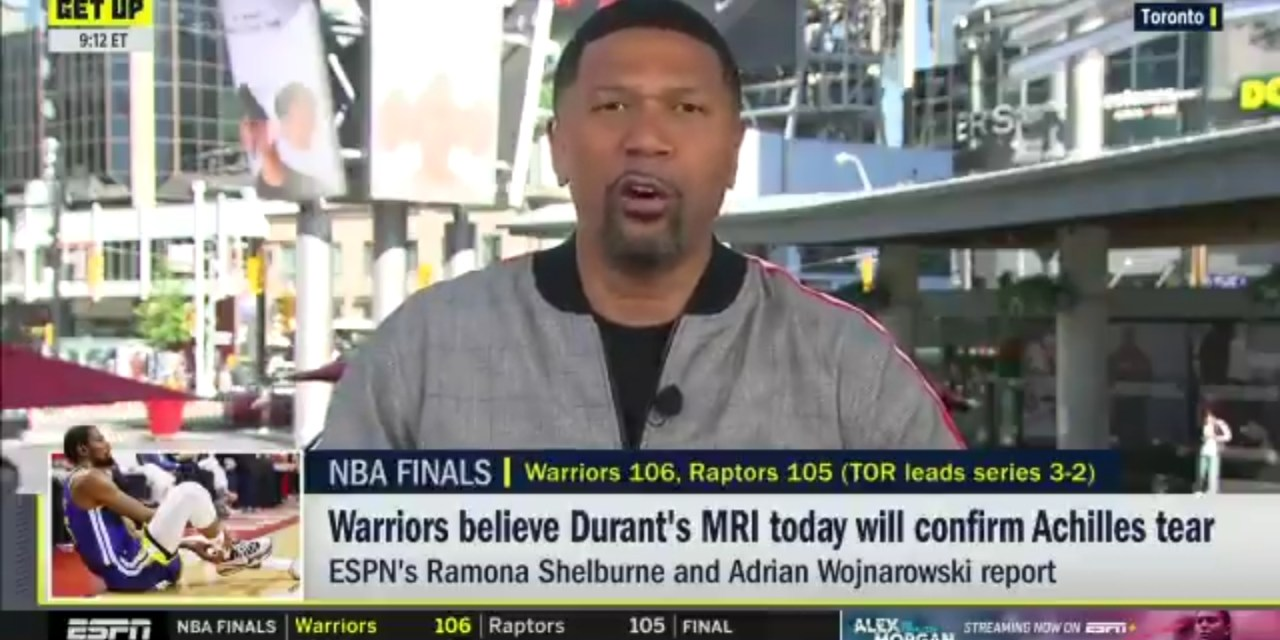 Jalen Rose Commends Kevin Durant for Playing in Game 5 But Explains Why He Shouldn't Have Played