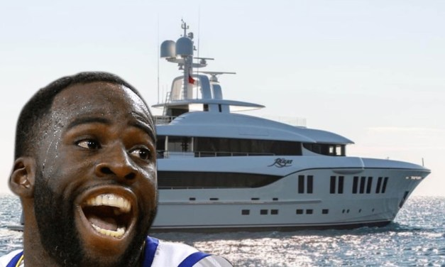 Draymond Green and His Fiancé Spotted on Yacht In Italy