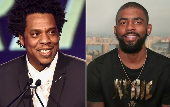 Roc Nation Owner Jay Z Attended a Rooftop Party to Celebrate Kyrie Irving Signing