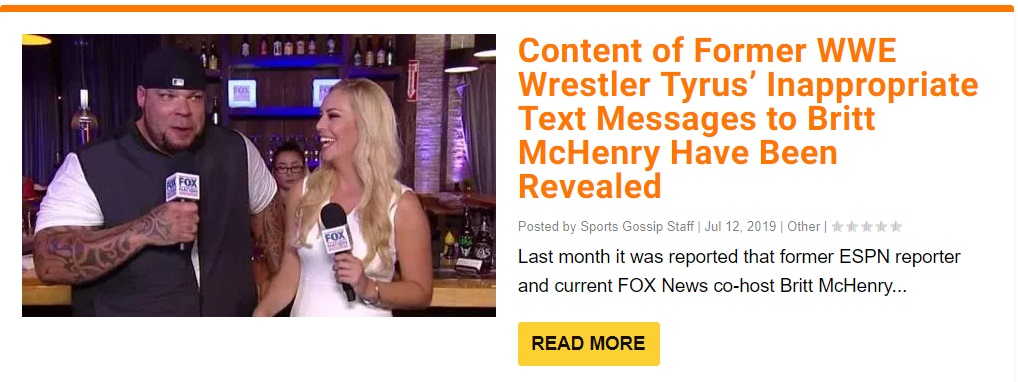 Statement From FOX News on Britt McHenry's Lewd Texts She Received