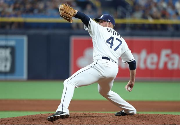 You Have to See This Insane Pitch Tampa Bay Rays Pitcher Oliver Drake Threw Last Night