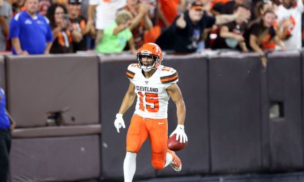 Browns Rookie Receiver Got the Pile On Treatment After Taking One to the House