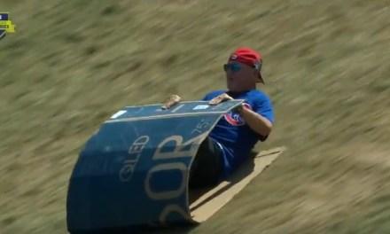 Joe Maddon, Anthony Rizzo and Kris Bryant Went Cardboard Box Sledding At LLWS