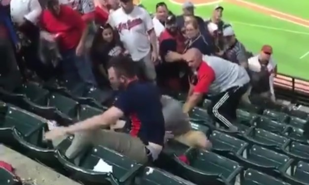 Indians Fans Fight Spills Over Several Rows of Seats