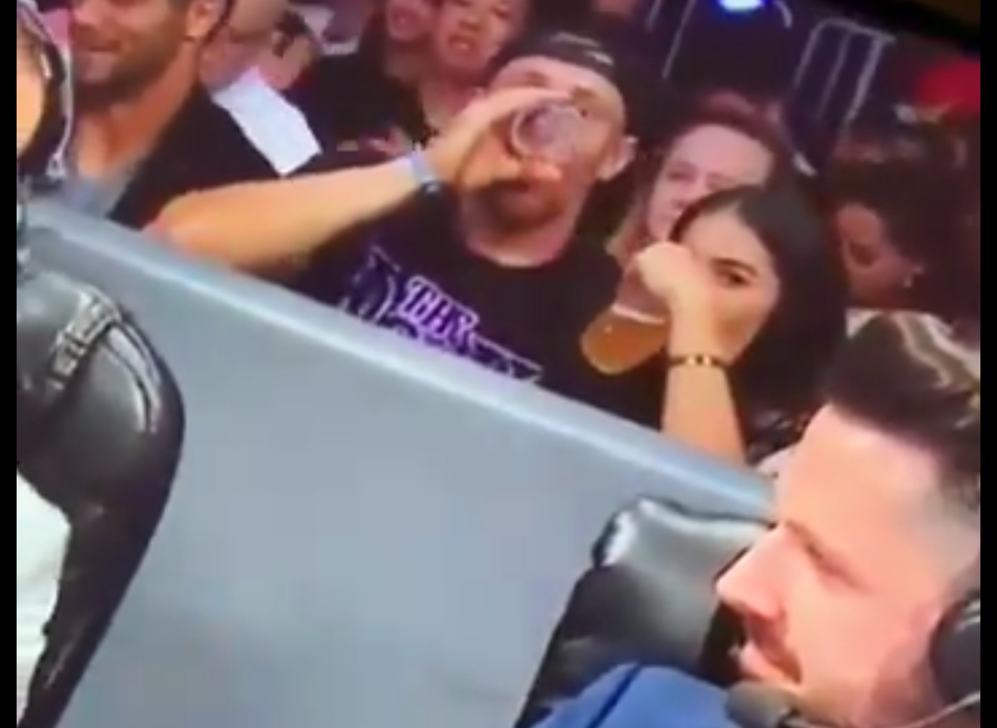 George Kittle Spotted Chugging Beer at WWE Smackdown