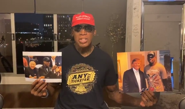 Dennis Rodman Volunteers to be NBA's Ambassador Amid Issues With China