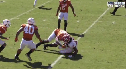Texas Defensive Lineman Malcolm Roach Got Ejected from the Red River Showdown After a Helmet-to-Helmet Hit on CeeDee Lamb