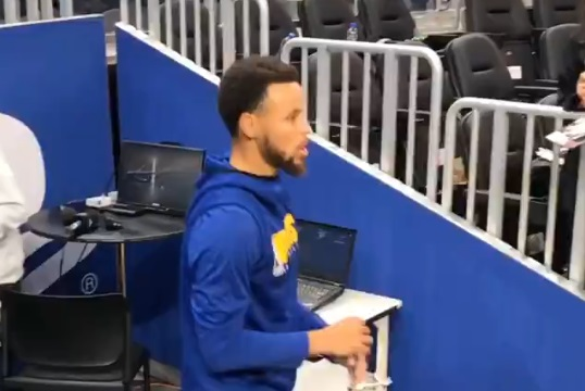 Steph Curry's New Tunnel Shot is Nearly Impossible
