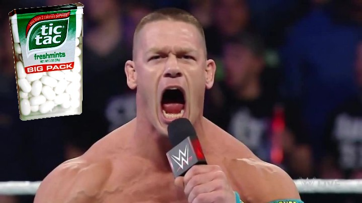 John Cena Used to Eat '10,000 Calories' Worth of Tic Tacs Before Each WWE Match