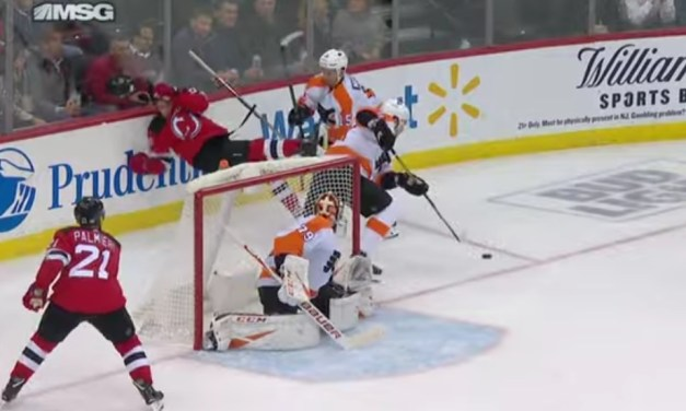 Players Drop the Gloves During Flyers and Devils Game After a Huge Hit