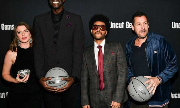 Kevin Garnett Posts Up With the Weeknd and Adam Sandler for 'Uncut Gems' Premiere