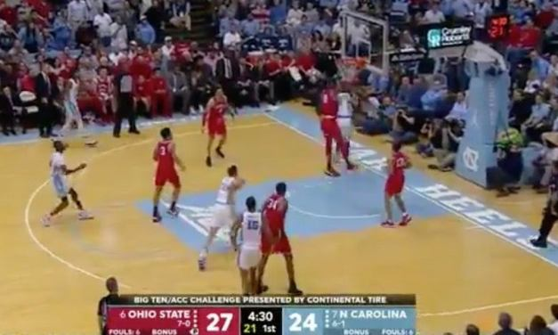 North Carolina's Cole Anthony Caught an Elbow to the Head During Loss to Ohio State