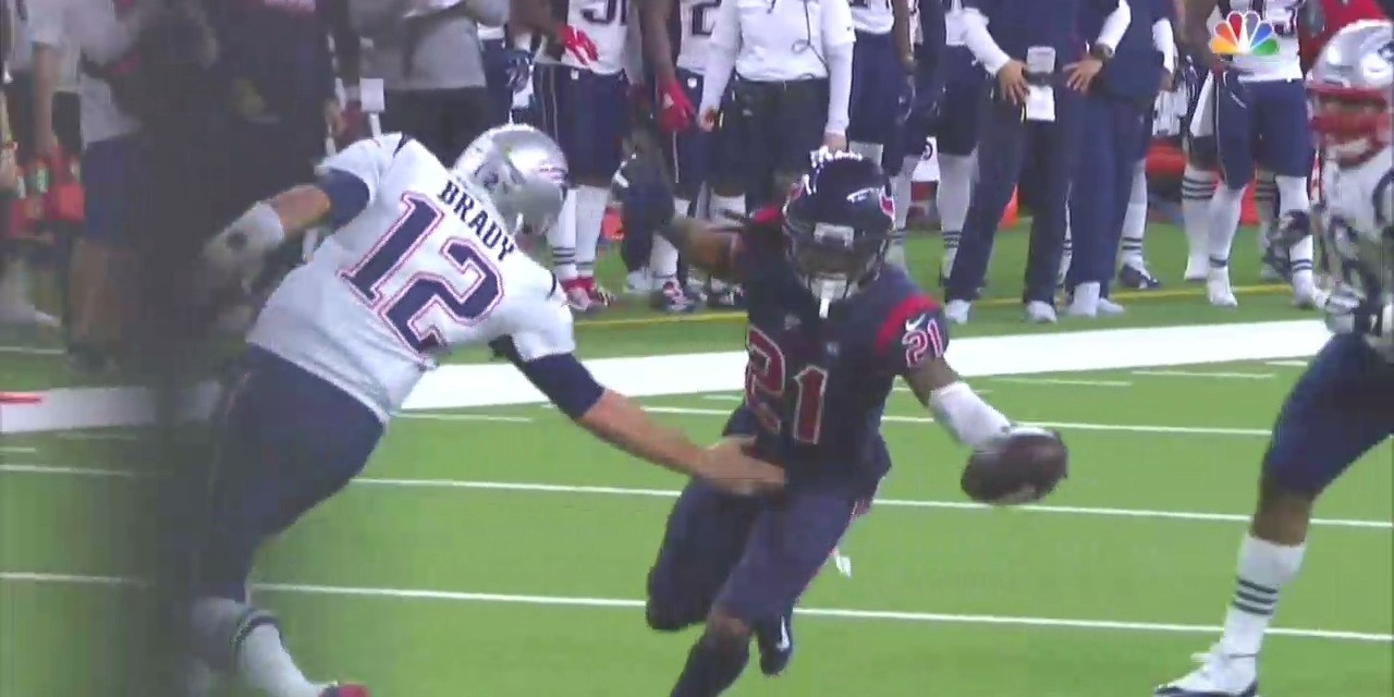 Tom Brady Made a Tackle After Throwing an INT by Slapping the Defensive Back in the Junk