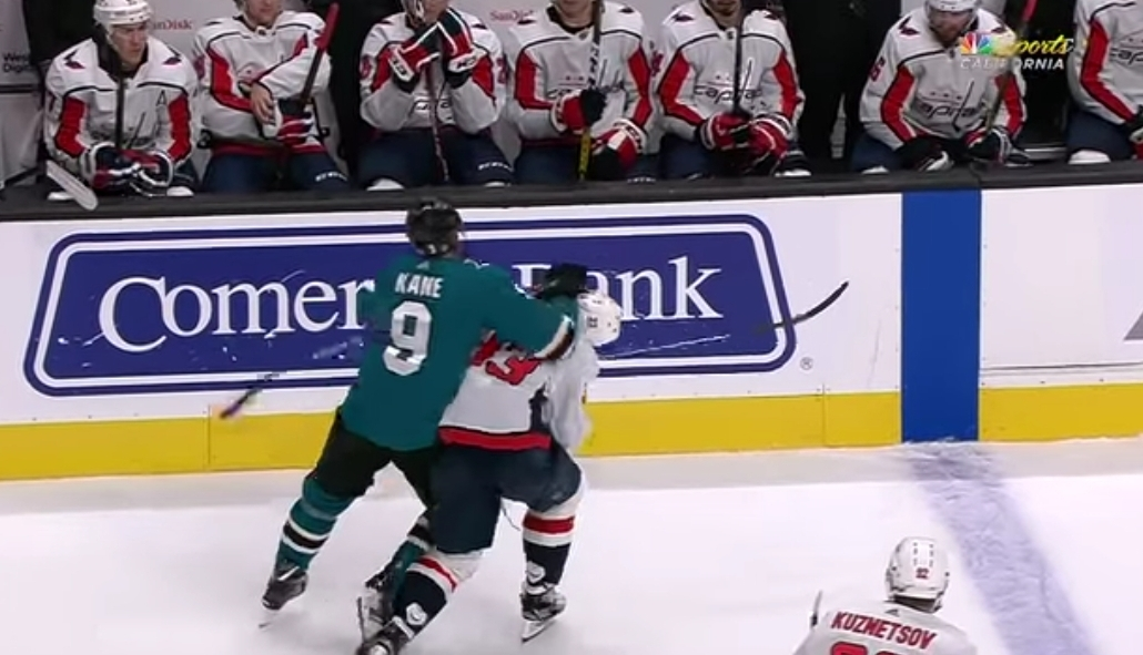 Evander Kane Ejected for Shot to Capitals Defenseman Radko Gudas