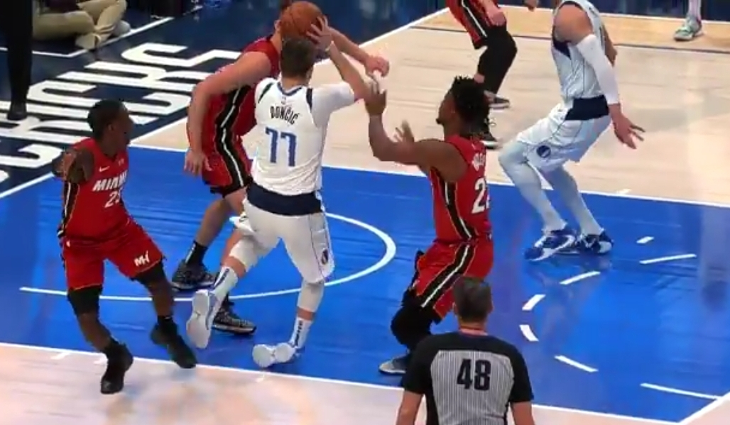 Luka Doncic Leaves Game Against Miami Early After Rolling His Ankle