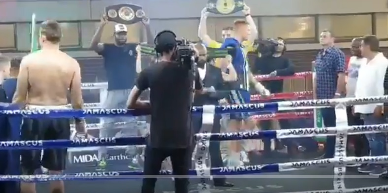 South African Boxing Match Called Off After Boxer Snaps Ropes And Falls Out Of The Ring